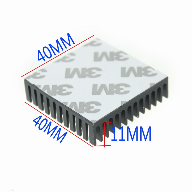 20 Pieces Gdstime 40X40X11mm Extruded Black Heatsink for Electronic Cooling 40mm x 10mm