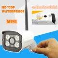 Câmera IP Wi-fi 720 P ONVIF Sem Fio à prova d' água bala cam Vigilância De Vídeo HD Visão Nocturna do IR Mini CCTV Segurança Ao Ar Livre sistema