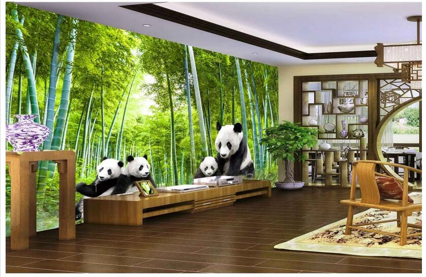 3d Wallpaper Custom Photo Non-woven Mural Wall Sticker 3 D National Treasure Panda Bamboo Painting Room Wallpaper For Walls 3d
