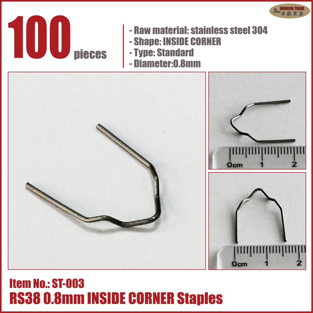 hot staples wave flat corner U W M V 0.6mm 0.8mm straight w plastic stapler auto car bumper welding gun replacement staples tool