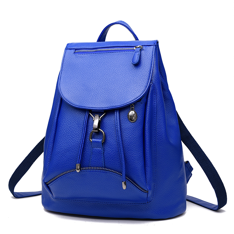 aa990d21b4 LONG SON Fashion PU Leather Backpack Women Bags Preppy Style Backpack Girls  School Bags Zipper Shoulder Women s Back Pack WB075-in Backpacks from  Luggage ...