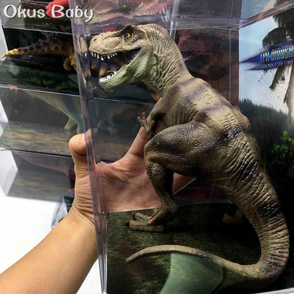2019 גודל גדול הכי חדש פראי חיים דינוזאור צעצוע סט פלסטיק לשחק צעצועי דינוזאור דגם פעולה דמויות ילדי ילד מתנת עיצוב הבית