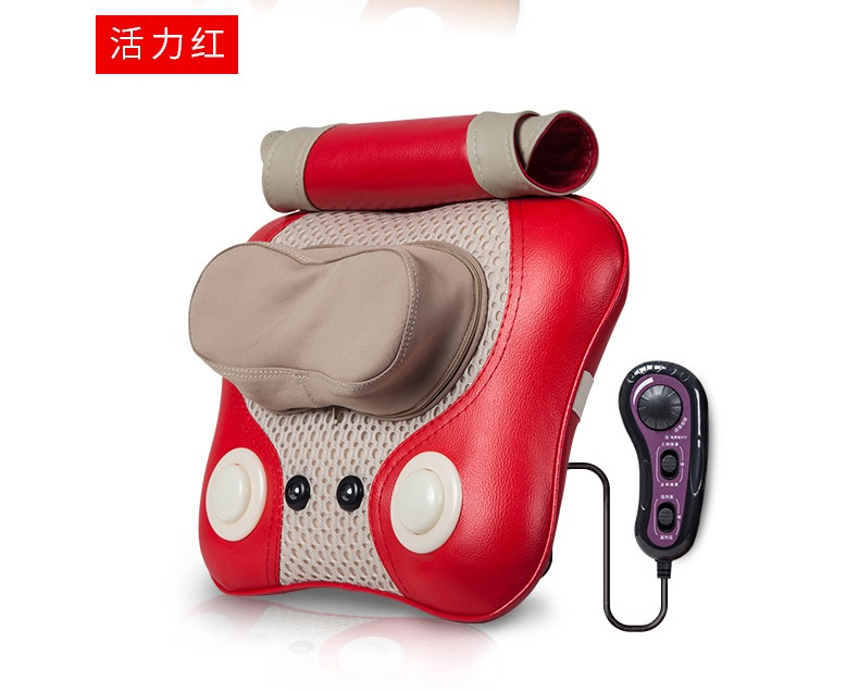 Cervical Lumbar Massage Cushion Pillow 3d Kneading Heating Electric Vibrating Massager Shiatsu Shoulder Back Neck Electronic electric massage pillow infrared heating kneading cervical neck shoulder auto shiatsu massager car use massage