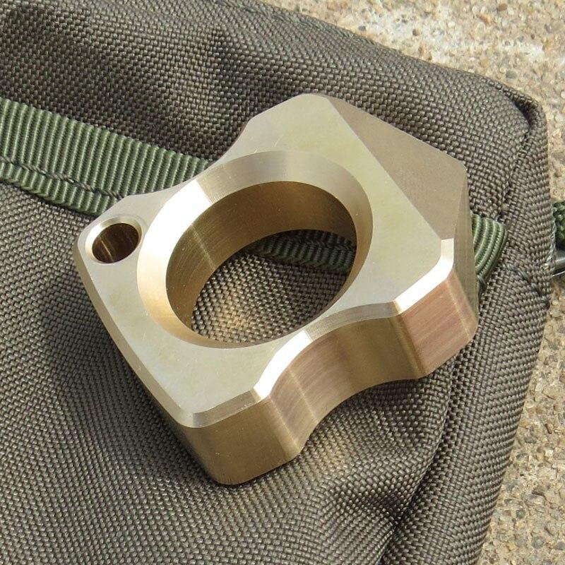 Brass EDC Defense Tactical Tool EDC Titanium Alloy Multipurpose Single Holes Outdoors Broken Window Self-defense