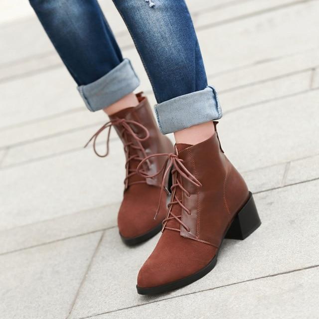 martin boots-Pure Color Low Heel Women Inside B... bM7rjKa