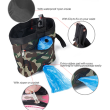 Fashion Camouflage Green/Pink Pet Dog Walking Food Treat Snack Bag Outdoor Agility Bait Training Oxford Pockets Pouch Waist Sto