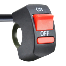 EAFC Universal Motorcycle Handlebar Flameout Switch ON OFF Button for Moto Motor ATV Bike DC12V/10A Black