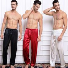 Атлас sml шелковый xl салон сна топы пижамы мужская плюс брюки