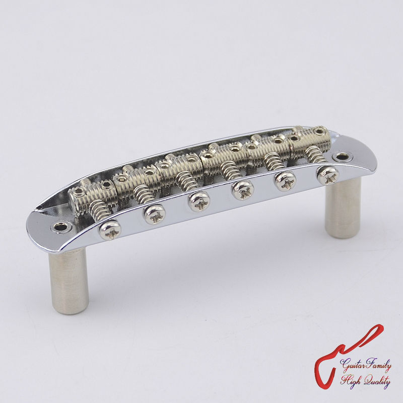 1 Set GuitarFamily In Ottone Filettato Selle Vintage Jazzmaster/Jaguar/Mustang Tipo Ponte Chrome (#1249) MADE IN COREA1 Set GuitarFamily In Ottone Filettato Selle Vintage Jazzmaster/Jaguar/Mustang Tipo Ponte Chrome (#1249) MADE IN COREA