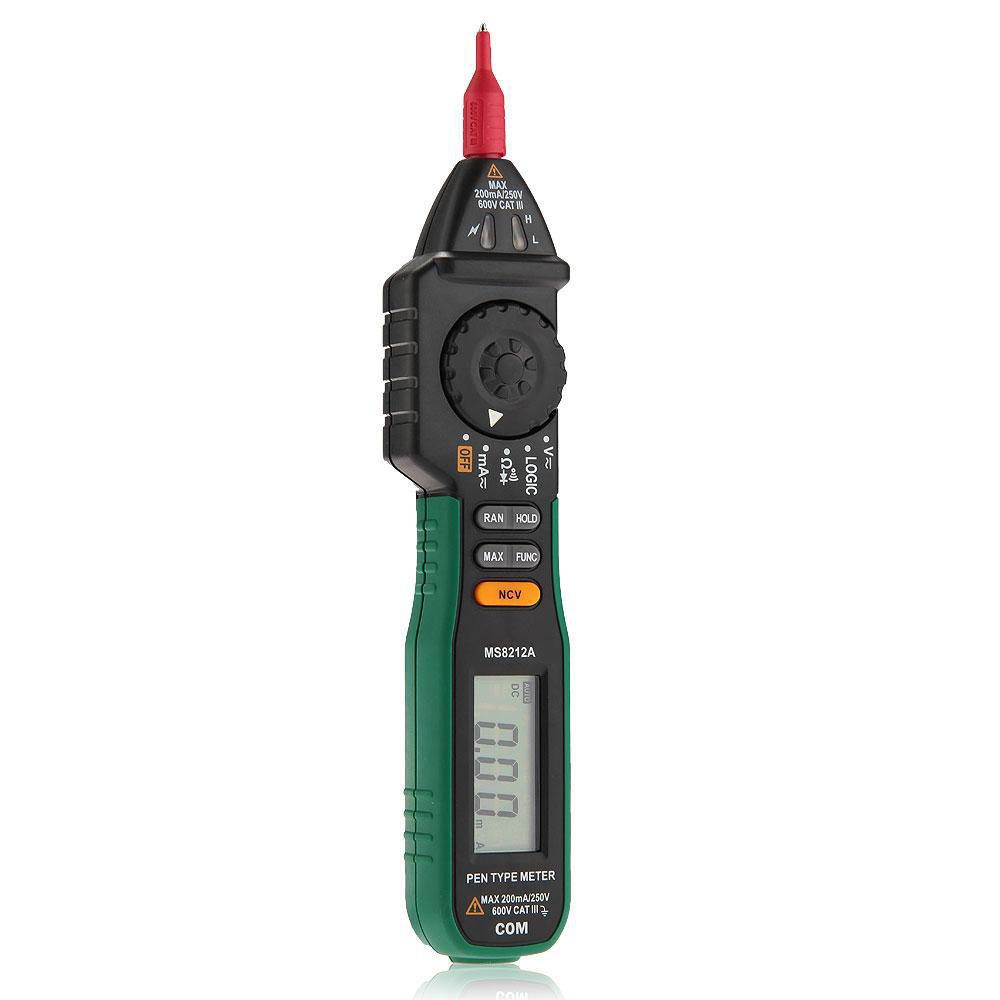 MASTECH MS8212A Pen Type Multimeter Tester DC AC Voltage Current Volt Ohm