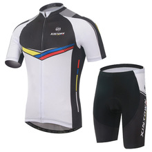 New Cycling Jersey Sets Men Bike Clothing Suits Black White Bicycle Top Cycling Wear Shirts mtb