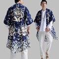 Chinese style men's trench windbreaker coat printed cotton linen belt cardigan men summer clothing long overcoat