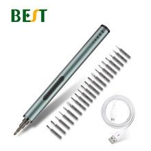 цена на BEST Electric Screwdriver Set Portable Charging Full Aluminium Lithium Battery PrecisionElectronic Repairs Teardown Kit Tool