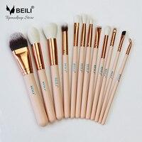 2017 BEILI New Style 12pcs Complete Makeup Brush Set Professional Foundation Blusher Highlighter Eye Shadow Eyeliner
