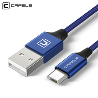 CAFELE Nylon Micro USB Cable For Samsung Xiaomi Huawei Meizu Android Fast Charging USB Data Cable USB Micro Mobile Phone Cables