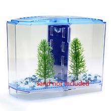 2 Size Acrylic Aquarium Betta-fish Tank Mini Incubator Fishbowl For Fry Isolation Hatchery Guppy Fish Reptile Cage Turtle House