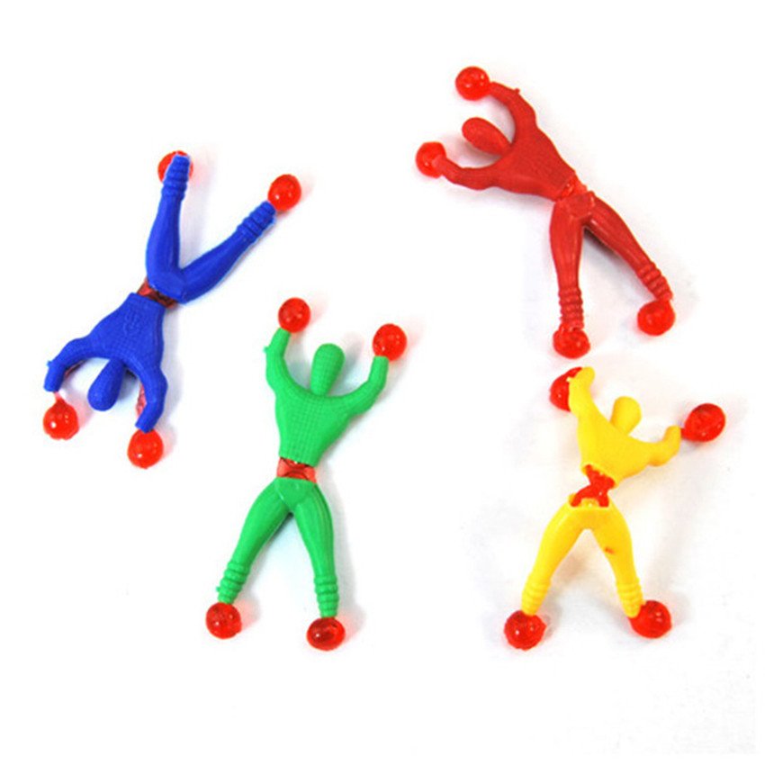 4PCS Funny Flexible Climb Men Sticky Wall Toy Kids Toys Climbing Flip Plastic Man Toy For Children Attractive Classic Gift