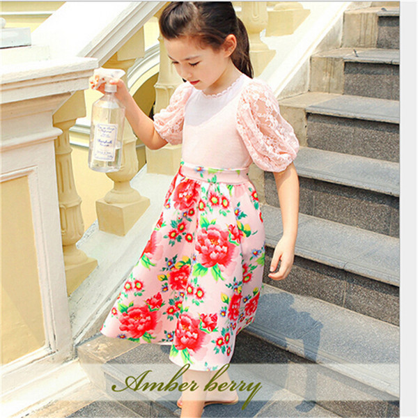 1639ba8589 2015 Kids Girls Print Floral Maxi Skirts Baby Girl Summer Cotton TuTu  Princess Skirt Children s Clothing Babies Clothes-in Skirts from Mother    Kids on ...