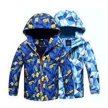 Children Outerwear Warm Polar Fleece Coat Hooded Kids Clothes Waterproof Windproof Baby Boys Jackets For 3-12Y Autumn Spring(China)