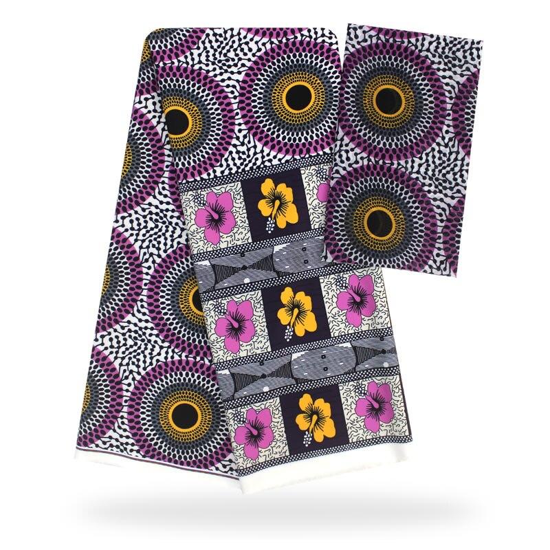 YBG! haute qualité africain cire impression tissu marque Stretch Satin soie tissu tissu soie offre spéciale en gros 4 + 2 yards/lot! L61892 - 4