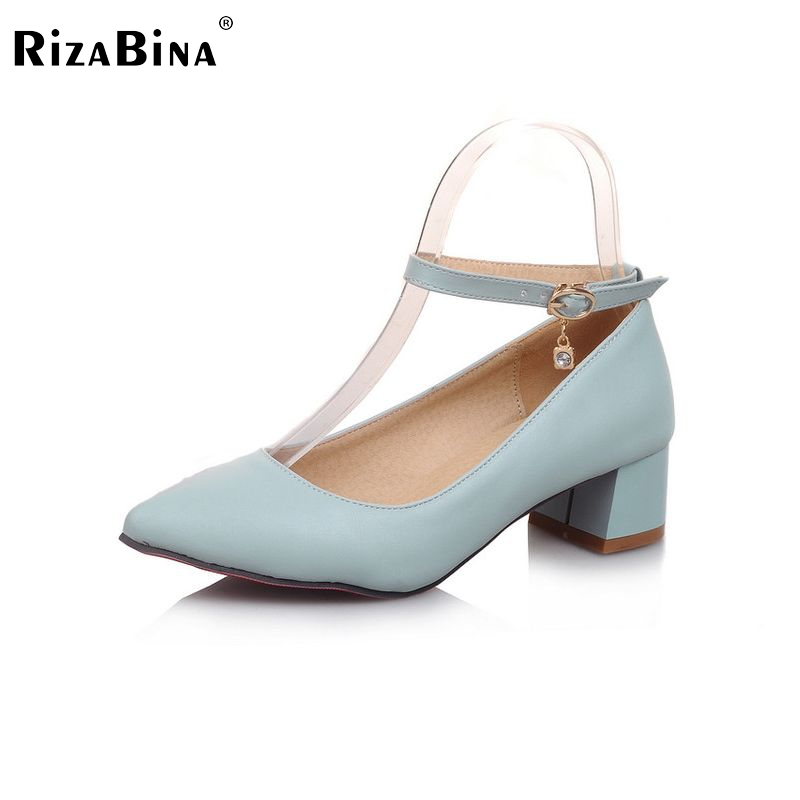 Donne piazza di alta qualità scarpe tacco punta aguzza sexy moda primavera  tacco alto calzature di marca pompe talloni size 34-43 P16309 c5678fa57a6