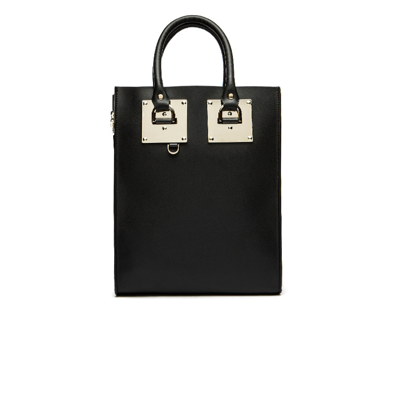 Ladies bucket type square patch large metal retro handbags Ladle models square type shoulder big leather bag