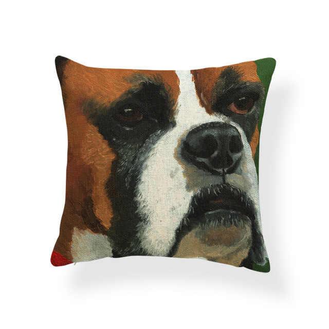 Pug Anjing Golden Retriever Sarung Bantal Boston Terrier Schnauzer Bantal Dekorasi Rumah Melemparkan Bantal 18X18 Polyester Mewah