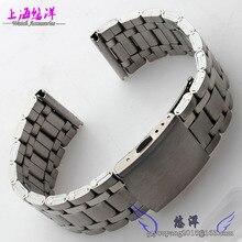 Pulsera relojes con todo correa de acero de la correa de acero disponibles para hombres y mujeres miran 22 | 24 mm boca plana