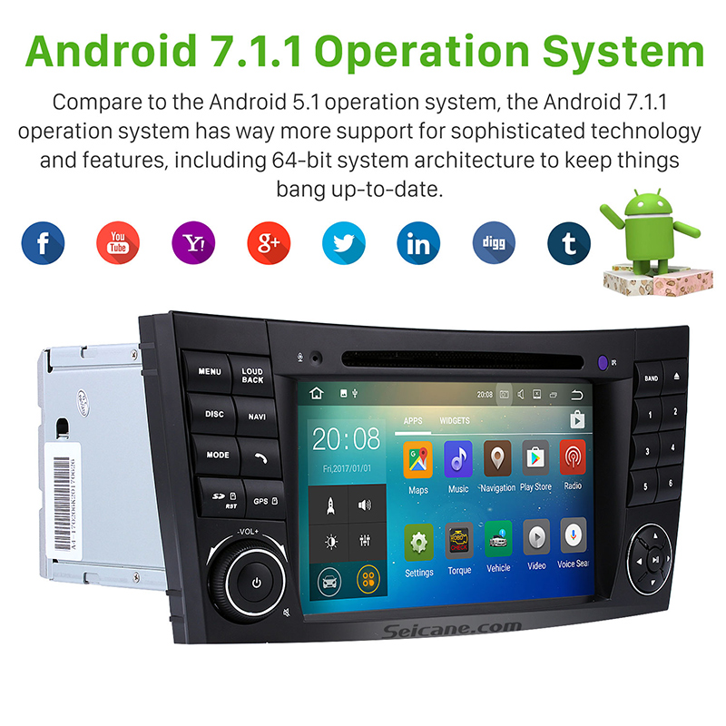 Seicane 7 android 71 car radio dvd player for 2002 2008 mercedes seicane 7 android 71 car radio dvd player for 2002 2008 mercedes benz e class w211 e200 e220 e230 e240 gps navigation 2 din in car multimedia player from fandeluxe Images