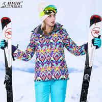 Зимние женские спортивные куртки лыжный костюм для женщин Лыжный спорт и куртки для сноубординга брюки сноуборд куртка Женский Зимний спор