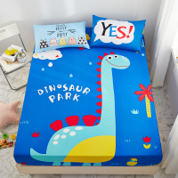 1Pcs Cotton Cartoon Animal Print Bedding Bed Sheet Fitted Sheets Mattress Cover Bedspreads With Elastic Band Sheet #s