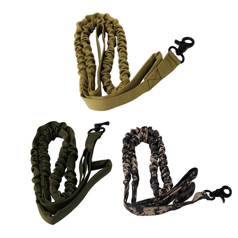 Nylon 1000D Tactical Military Police Dog Training Leash Elastic Pet Collars