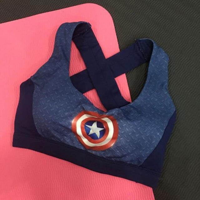 High Impact Women's Elastic Supergirl Sports Bra In Pink Shirts Superman Women Running Underwear Padded Bra Color Rush Tank Tops