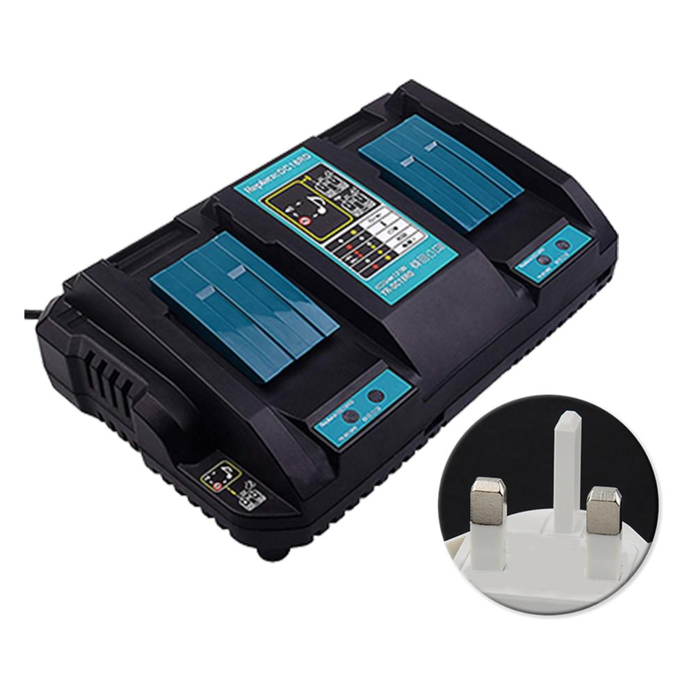 14.4 V 18 V Protection de Circuit Auto Durable double Port cessory charge rapide Li-ion chargeur de batterie outil électrique pour Makita DC18RD
