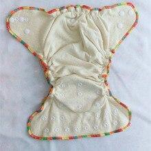 Высокое качество ткани Подгузники Высокое качество льновеньковые/органические хлопчатобумажные пеленки из подходящих тканей и две вставки один размер подходит двойные ряды защелками