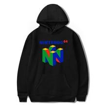 2019 yeni marka klasik oyun N64 baskı kapüşonlu Sweatshirt Harajuku Hoodies büyük boy kazak giyim Hip Hop Streetwear
