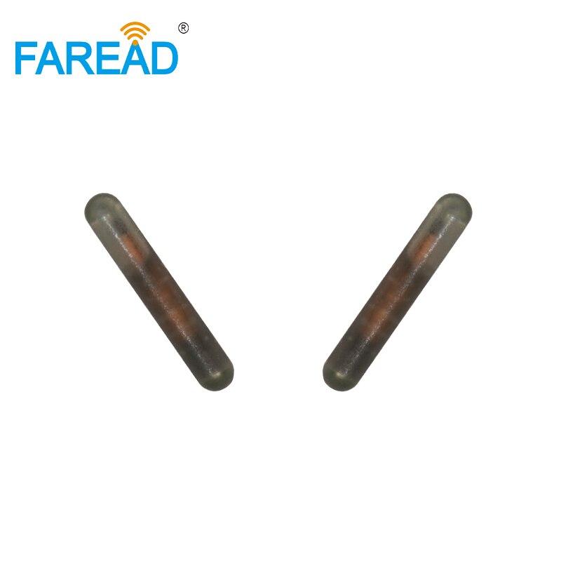 X100pcs Hot Sale IP68 RFID Animal ID Glass Tube UID Format 125Khz 2.12*12mm LF RFID Microchip