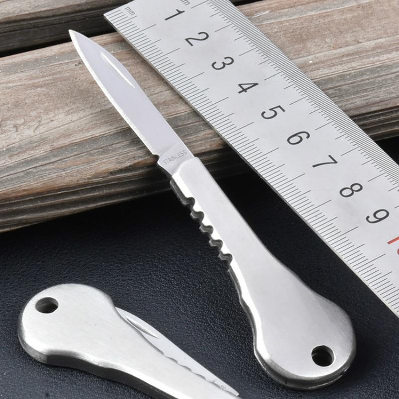 Outdoor EDC Mini Fold Key Knife Key Pocket Knife Key Chain Peeler Portable Camping Key Ring Tool paulone outdoor compass edc tools key chain metal key ring спортивные крючки
