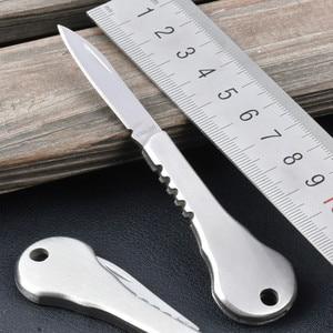 Outdoor EDC Mini Fold Key Knife Key Pocket Knife Key Chain Peeler Portable Camping Key Ring Tool