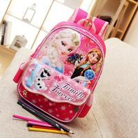 Torby szkolne dla dzieci dziewczyny cartoon elsa anna dzieci plecak mochila infantil Cartoon Plecak Pierwszej klasy i Przedszkola
