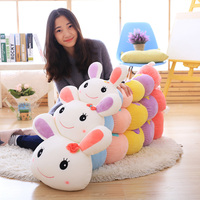 Cute Caterpillar Rabbit Plush Toys For Children friend Baby Birthday Gift Gloves Plush Soft Toy Stuffed Animals Pillow Toy 95cm