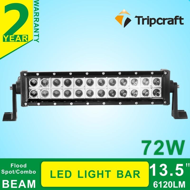 ФОТО 13.5''Inch 72W led light bar 10-30V DC for Tractor Boat Off-Road 4WD 4x4 Truck SUV ATV Spot Flood Combo 12v 24v