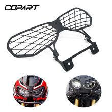 купить For Honda CRF1000L CRF 1000L CRF1000 L 13 - 17 Africa Twin Motorcycle Modification Front Headlight Grille Guard Cover Protector дешево