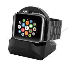 Luxury Base For Apple Watch Holder Hand Free Cable Hole Charging Support Aluminum Bracket iWatch Dock Stand