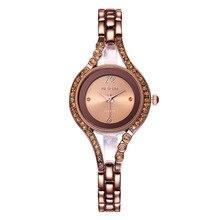 Weiqin Nueva Moda 2016 de Lujo Rhinestone Mujeres de Los Relojes de Cuarzo de Acero Inoxidable Reloj De Señoras Vestido Reloj relogios 2724