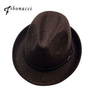 Image 1 - Fibonacci 2017 New Fedoras Fashion Wool Felt Solid Color Jazz Small Hat Men Womens Popular Vintage Fedora