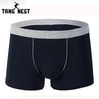 TANGNEST 2017 Hot Sale Underwear Men One Box Include 3 Pieces Men Underwear Comfortable Solid Color