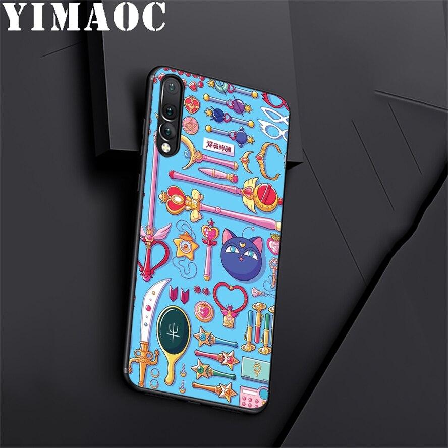 YIMAOC Сейлор Мун Довольно Мягкие TPU черный силиконовый чехол для huawei Honor Коврики P20 P10 P9 P8 10 9 8 P Smart Y6 6A Lite Pro 2017