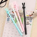 4Pcs/Lot Rabbit Gel Pens Set Kawaii School Supplies Office Stationary Photo Album  Kawaii Pens Stationery Black Ink Pen 2017