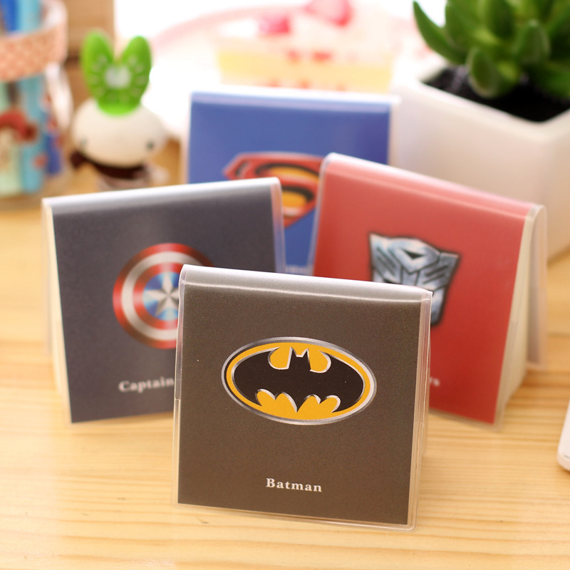 1 Piece Mini Cute Superman Batman Notebook Pokert Notepad With PVC Cover  Office School Supplies Gift